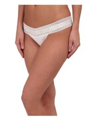 Calvin Klein | White Cotton W/ Lace Thong | Lyst