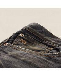 RRL Black Slim Narrow Jean for men