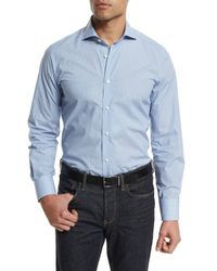Neiman Marcus - Blue Circle-print Long-sleeve Sport Shirt for Men - Lyst