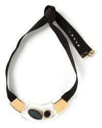 Marni   Metallic Ribbon Necklace   Lyst