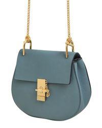 Chloé - Blue Python Mini Drew Saddle Bag - Lyst