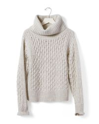Banana Republic | Natural Honeycomb Turtleneck Sweater | Lyst