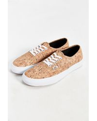 Vans | Brown Authentic Printed Sneaker for Men | Lyst