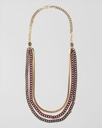 Jaeger Red Mixed Multichain Necklace