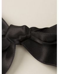 Marni Black Embellished Ribbon Necklace