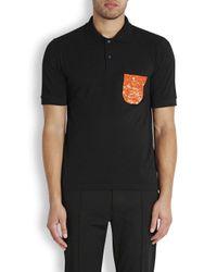 Raf Simons Red X Sterling Ruby Black Cotton Polo Shirt for men