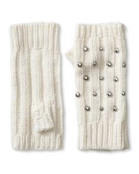 Banana Republic   White Studded Fingerless Glove   Lyst