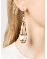 Ziio | Metallic Beaded Drop Earrings | Lyst