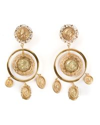 Dolce & Gabbana | Metallic Roman Coin Earrings | Lyst