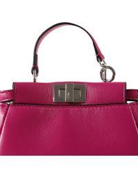 Fendi Multicolor Micro Peekaboo Nappa Leather Bag