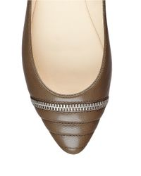 Nine West - Natural Savory Leather Flats - Lyst