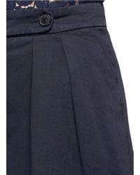 Dries Van Noten Blue 'pampi' Overdyed Cotton Twill Wide Leg Pants