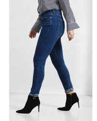 Violeta by Mango Blue Super Slim Fit Alexandra Jeans