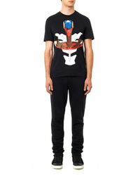 Givenchy Black Tribal Maskprint Tshirt for men