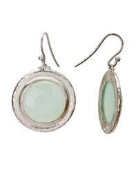 Gurhan - Metallic Gumdrop White Silver And Aqua Chalcedony Earrings - Lyst