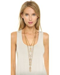 Ben-Amun Metallic Dreamcatcher Layered Necklace - Gold