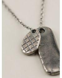 Bottega Veneta Metallic Intrecciato Embossed Necklace for men