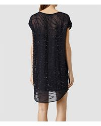 AllSaints | Blue Kayne Dress | Lyst