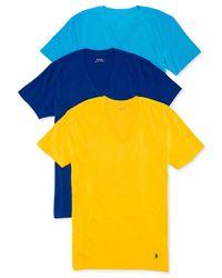 Polo Ralph Lauren Blue V-neck T-shirt 3-pack for men