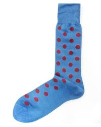 Paul Smith | Blue Large Spot Socks for Men | Lyst