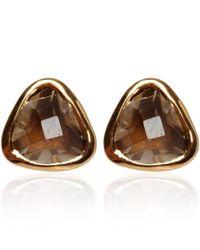 Dinny Hall | Metallic Gold Vermeil Smoky Quartz Jaipur Stud Earrings | Lyst