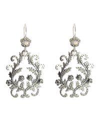 Laurent Gandini - Metallic Flower Earring - Lyst