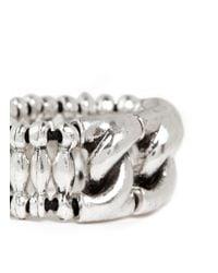 Philippe Audibert | Metallic 'forcat' Cable Chain Bead Ring | Lyst