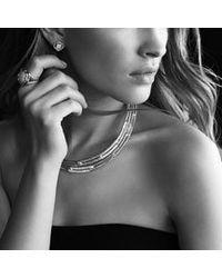 David Yurman   Metallic Labyrinth Small Ring with Diamonds   Lyst
