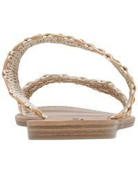 Lucky Brand Natural Women's Alddon Two-piece Flat Slide Sandals