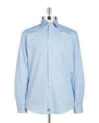 Strellson | Blue Slim Fit Checkered Sportshirt for Men | Lyst