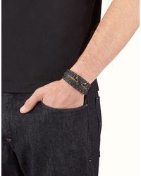 Fendi - Black Bracelet Bracelet for Men - Lyst