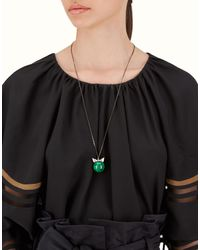 Fendi - Multicolor Crystal Wonder Necklace - Lyst