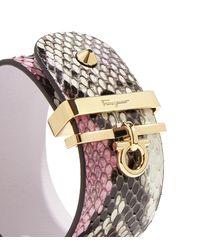 Ferragamo - Pink Gancini Cuff Bracelet - Lyst