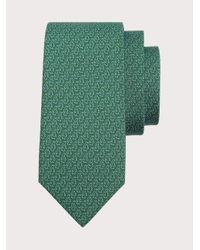 Ferragamo Corbata de seda estampado pingüinos - Verde