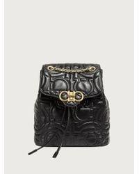 Ferragamo Quilted Gancini Backpack - Black