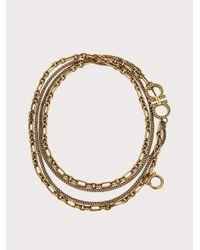 Collier chaîne Gancini Ferragamo en coloris Metallic