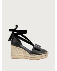 Ferragamo Women's Geraniolos Espadrille Tie - Up Sandals - Brown