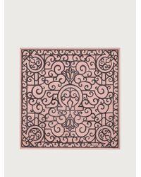 Ferragamo Seidenhalstuch mit Rinascimento-Print - Pink