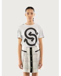 Ferragamo Gancio S Logo T-shirt - White
