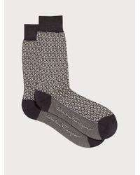 Ferragamo Gancini Jacquard Socks - Gray