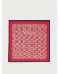 Ferragamo Pochette en soie imprimé Gancini - Rouge