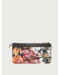 Ferragamo Giardino Print Cosmetic Case - Econyl® Nylon - Multicolor