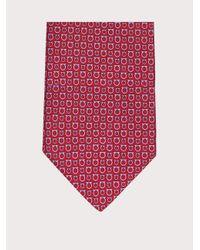 Ferragamo Krawatte mit Gancini-Print - Grün