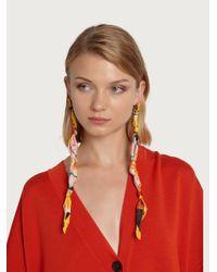 Boucles d'oreille Ferragamo en coloris Red
