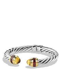 David Yurman Metallic Renaissance Bracelet With Citrine, Rhodolite Garnet & Gold