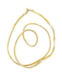 Alyssa Norton | Yellow Silk Rhinestone Wrap | Lyst