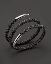 Roberto Coin Gray Sterling Silver And Ruthenium Snake Bangle