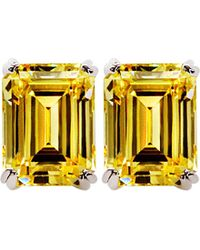 Carat* | Yellow Canary 1.5ct Emerald Solitaire Stud Earrings | Lyst