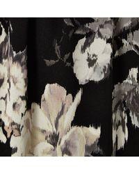 River Island Black Floral Print Maxi Skirt