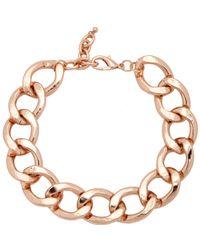 Kenneth Jay Lane | Pink Flat Curb Link Chain | Lyst
